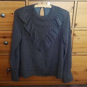 H & M polka dot blouse